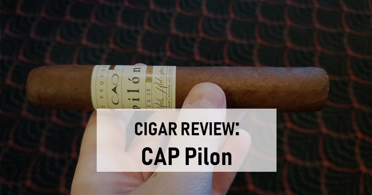 cigar review CAO Pilon