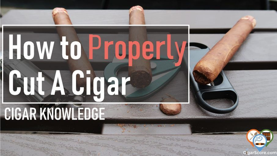 how to cut a cigar the right way
