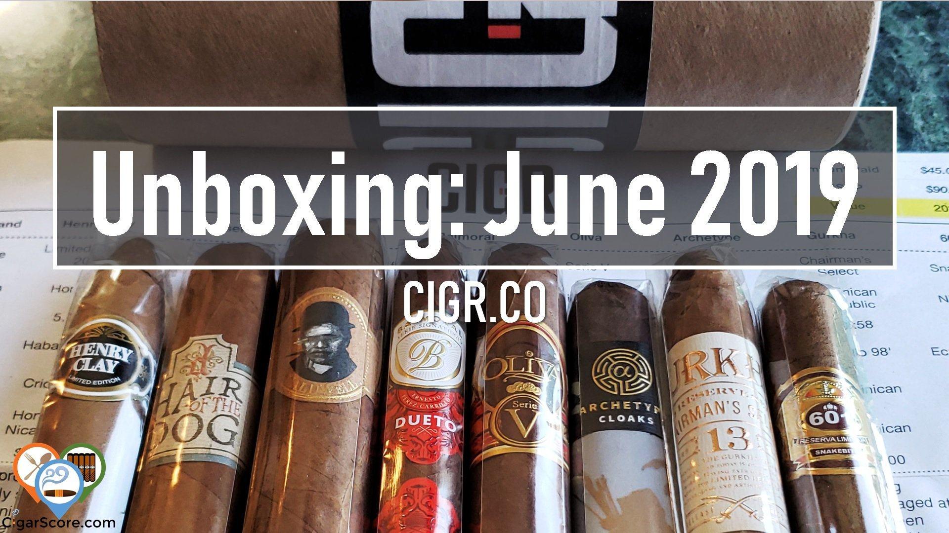 UNBOXING - CIGR.CO JUNE 2019 - Est. Value @ $88.28