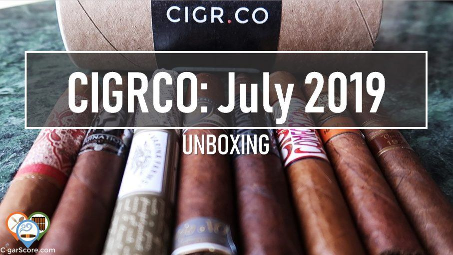 cigar subscription unboxing cigrco july 2019