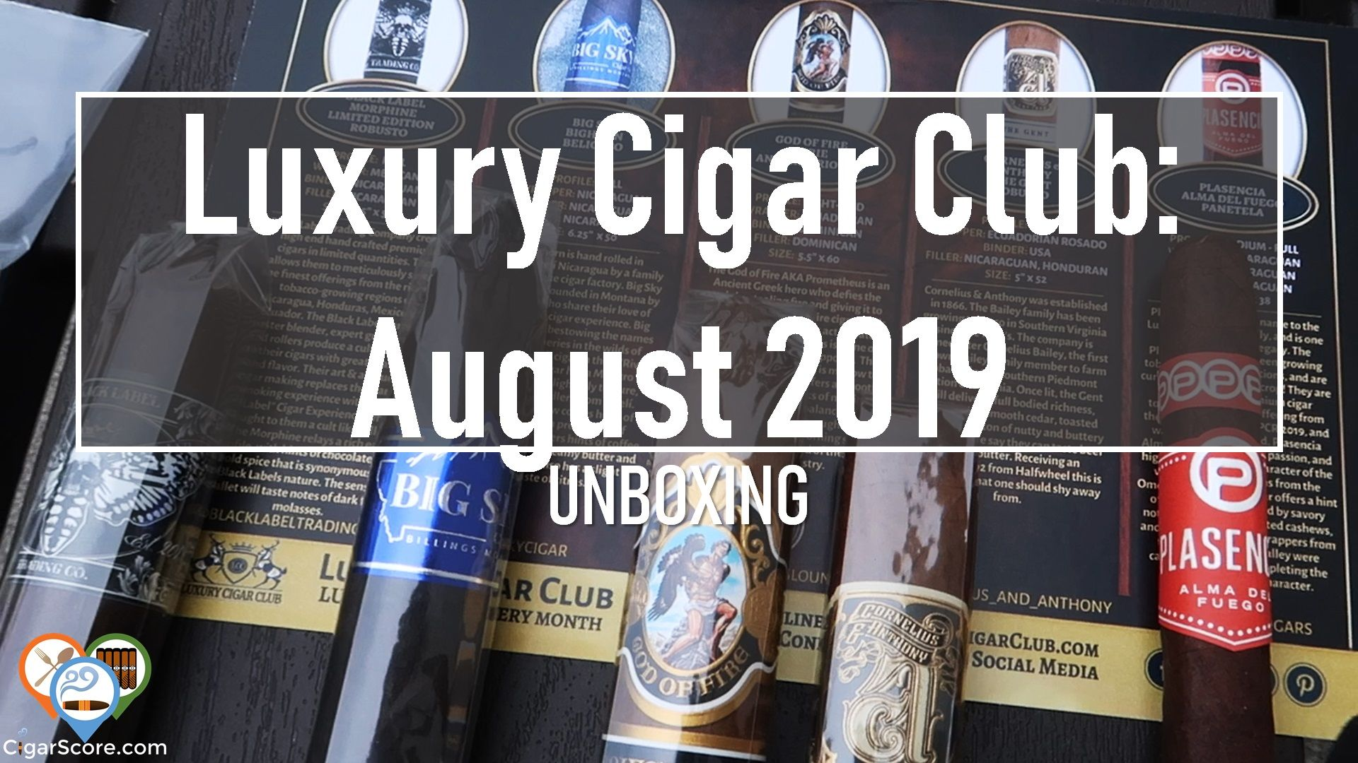 thumbnail unboxing luxury cigar club august 2019