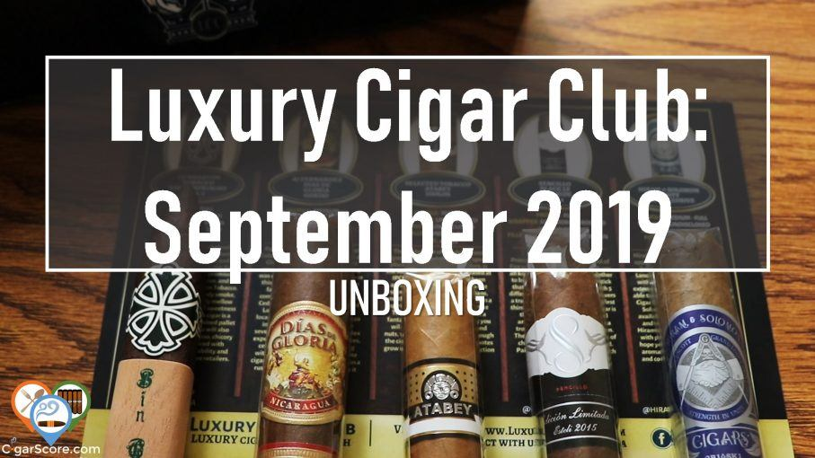 luxury cigar club unboxing september 2019