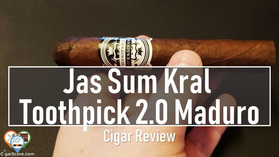 Cigar Review Jas Sum Kral Toothpick 2.0 Maduro fb