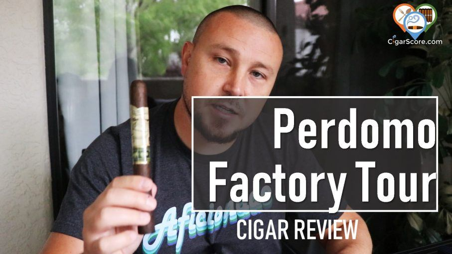 Cigar Review Perdomo Factory Tour Blend Maduro Churchill
