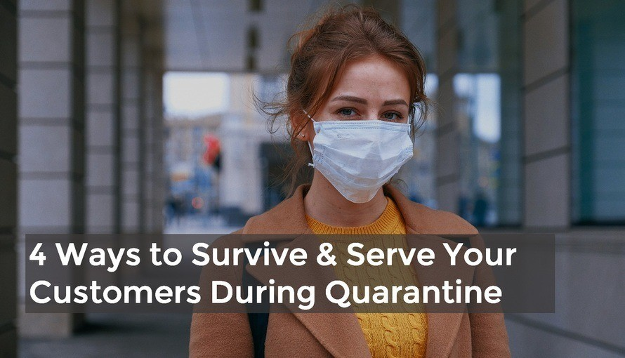 small business Survive Serve customers During corona virus Quarantine with text fb