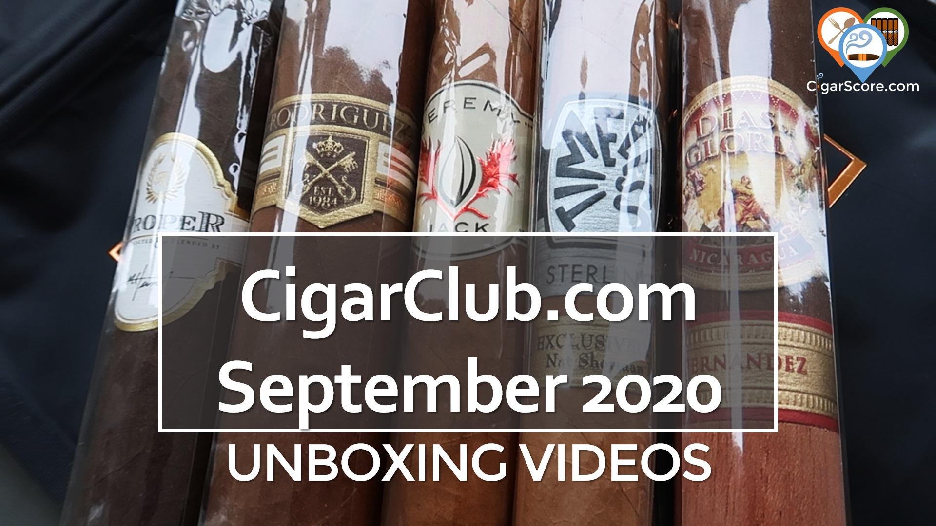 unboxing cigarclub.com september 2020
