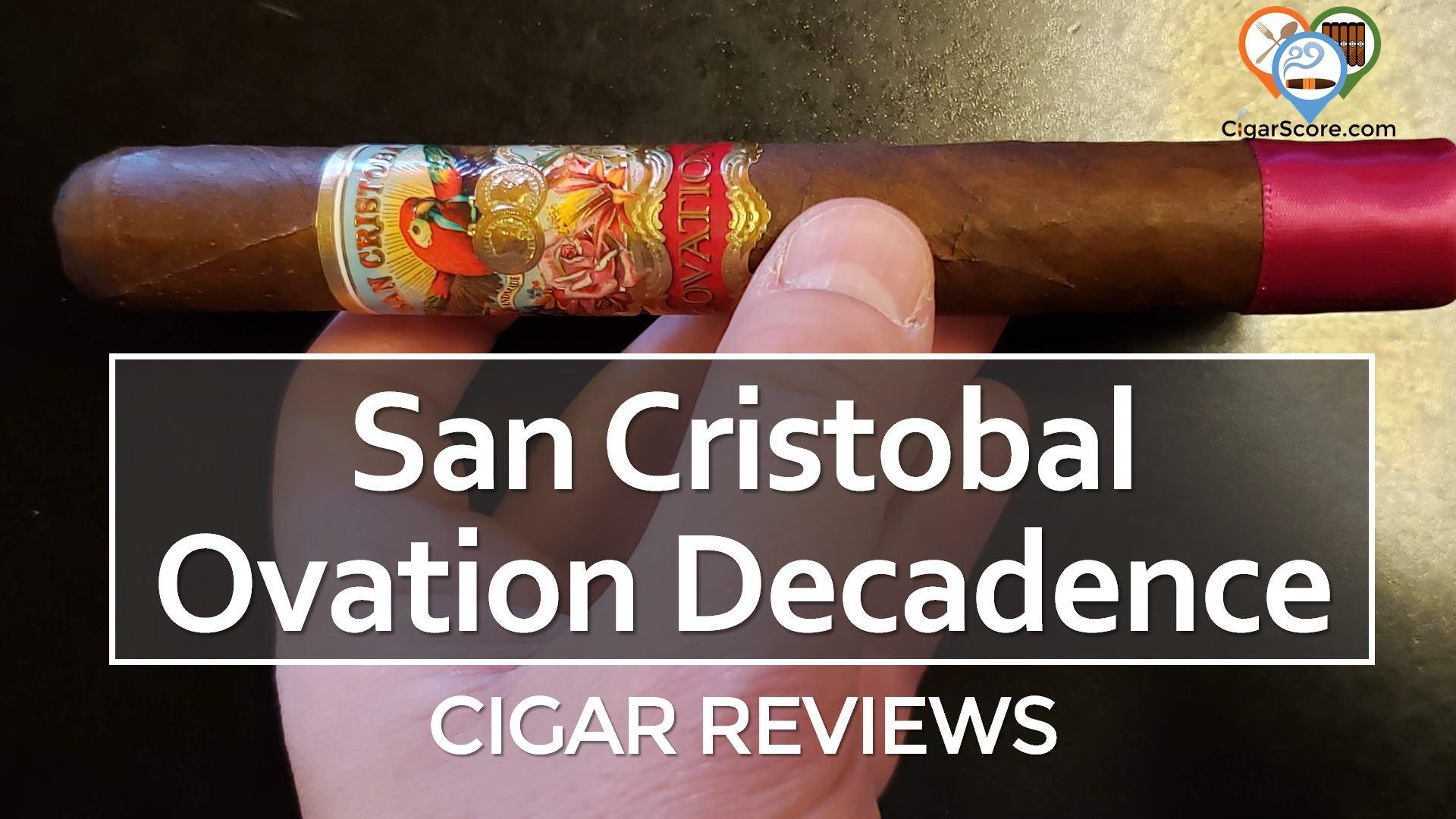 cigar review San Cristobal Ovation Decadence Toro fb