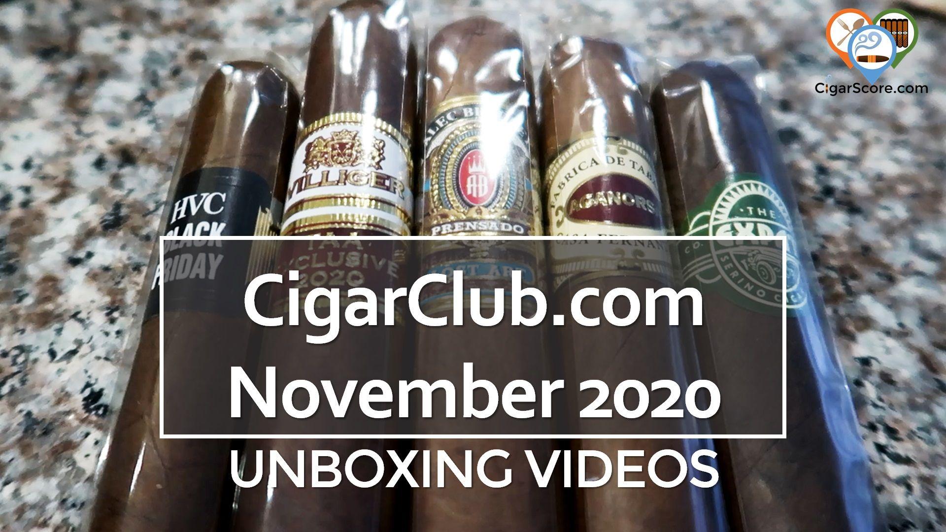Unboxing - CigarClub.com 2020 November
