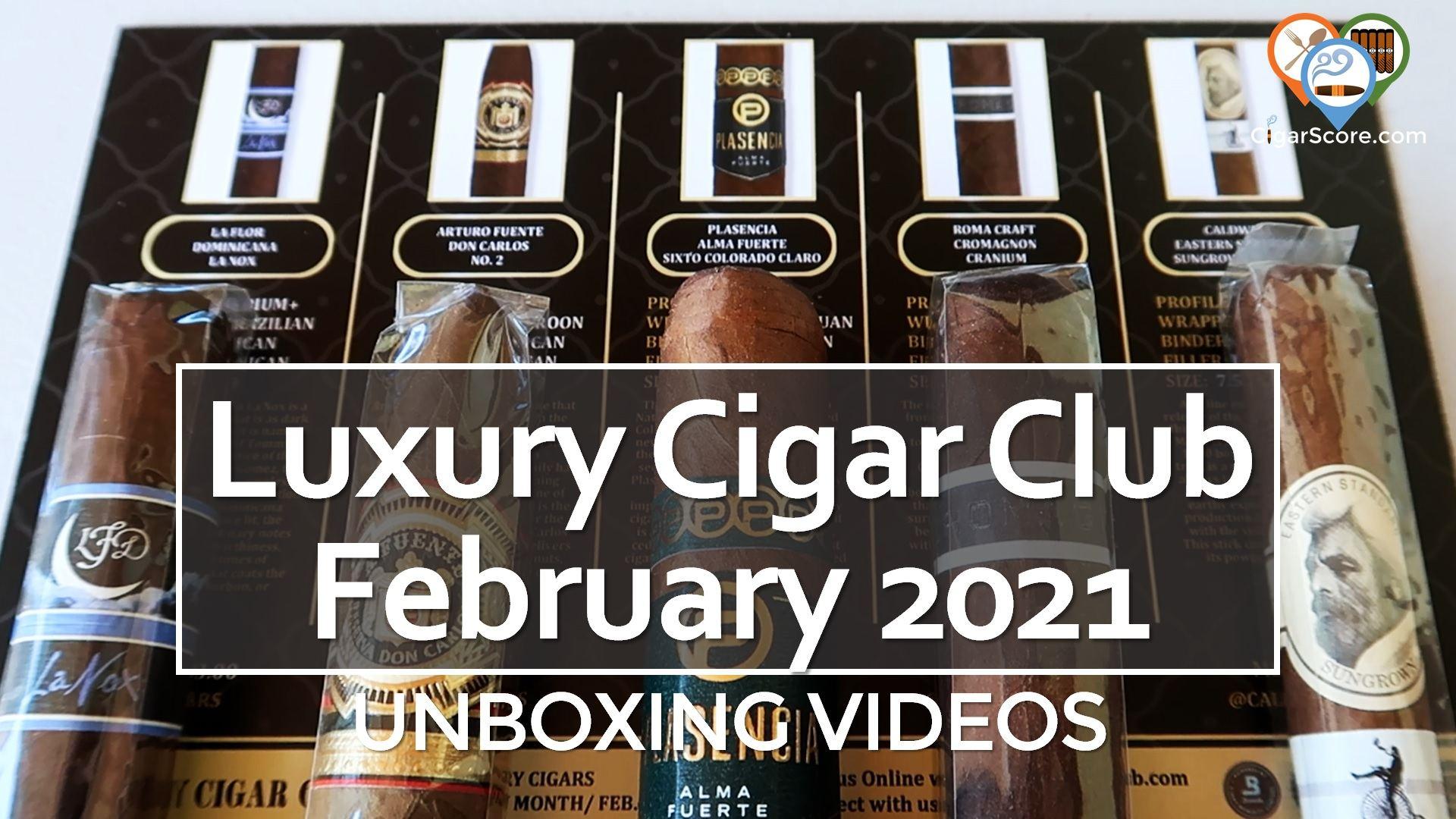 UNBOXING Luxury Cigar Club FEBRUARY 2021
