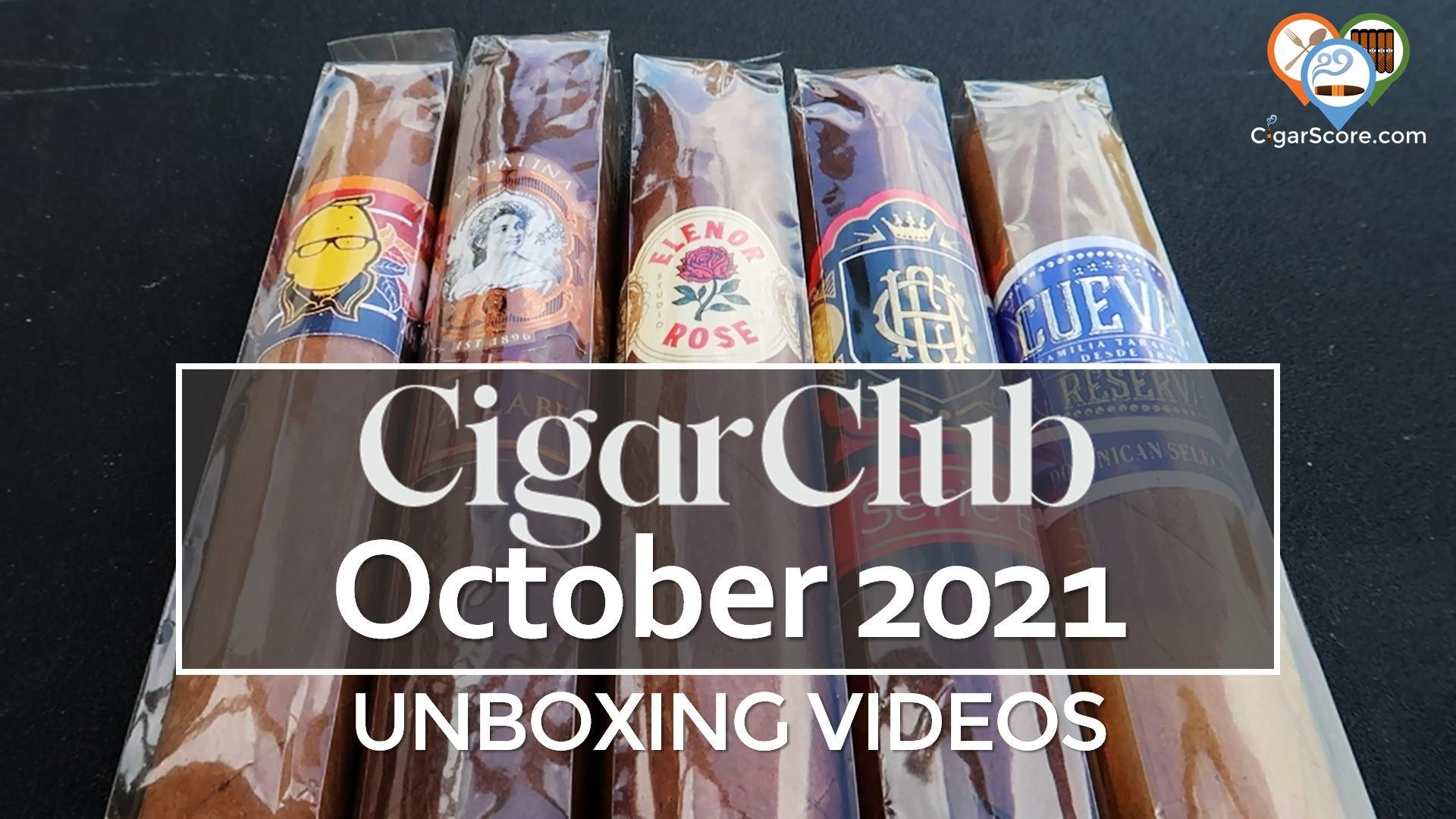 UNBOXING CigarClub OCTOBER 2021